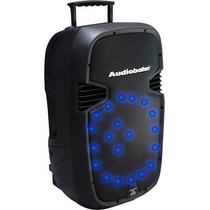 Bafle Recargable Amplificado Con Bluetooth Rueditas Usb Sd
