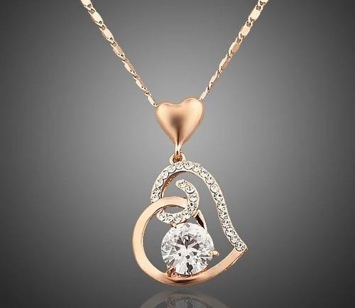 97f38734a08d Collar Corazón Amor Swarovski Elements Oro18kgp Regalo en venta en ...