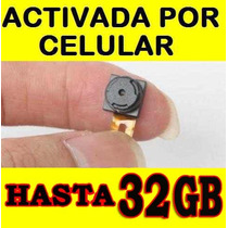 Camara Espia Microfono Espia Activado Por Celular 32gb Omm
