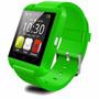 Smart Watch U8 Reloj Inteligente Tactil Bluetooth Verde