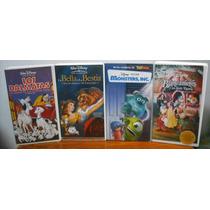 Paquete Disney En Vhs.. Blancanieves, Monsters, Bella-bestia