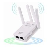 Pix-link Router Wifi Extensor Inalámbrico 4 Antena Fácil De