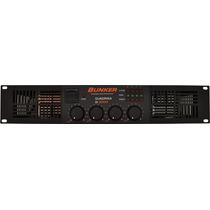 Amplificador De Poder Bunker D-2000 (500 Watts Rms X 4)