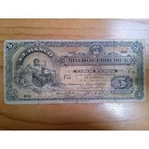 Billete 5 Pesos Del Banco Minero De Chihuahua Good Condition