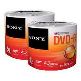 50 Dvd Sony Virgen  Logo 16x 4.7 Gb Precio Facturado Full