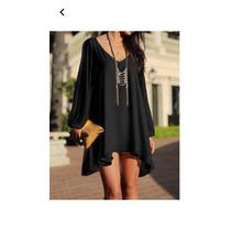 Mgboutique Vestido Cortito O Bluson Negro Elegante Lindo