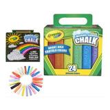 Gises Crayola Washable Sidewalk Chalk Cont 24 Pz Diferentes