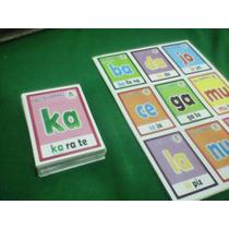 Loteria Didáctica Sílabas Juego Lectura Escuela