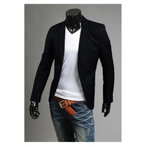 Saco Blazer Juvenil Elegante Hombre Moda Japonesa Slim Fit