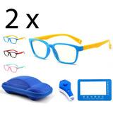 2 Lentes Niños Protección Luz Azul Videojuego Tableta Color