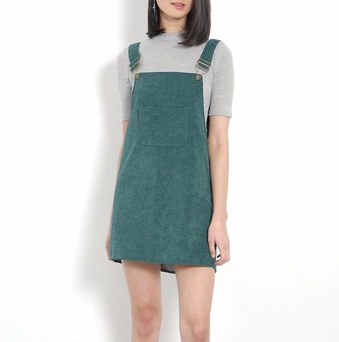 c2db9bce7 Vestido Casual Overol Verde Vestidos Casuales Ropa Mujer.   399