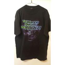 Wwf Playera Authentic The Rock (talla Grande)