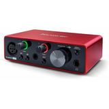 Interfaz Audio Focusrite Scarlett Solo  3ra Generacion