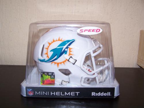 4dd6d8e3940a8 Mini Casco Riddell Delfines Miami Dolphins Nfl