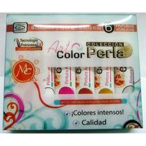 Paquete De Pinturas Para Mano Alzada Perla 6 Pz Mc Nails
