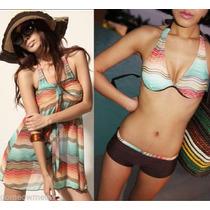 Trajes De Baño 3 Piezas, Bikinis Monokinis. $399.00 C/u