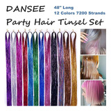 Dansee 48  Hair Tinsel 7200+ Glitter Strands Extensions