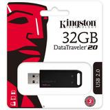 Memoria Usb Kingston Datatraveler Usb 2.0 32gb Negro