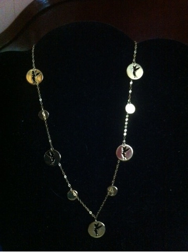 b0eead84819b Collar Con Dijes De Campanita En Oro De 14k