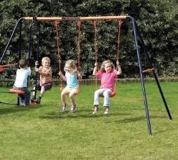 Columpio de acero juego hasta 4 ni os juguetes para jardin 3500 bembm precio d m xico - Columpios ninos jardin ...