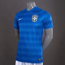 Jersey Brasil Visita Authentic Jugador Laser Holes Nike 2014