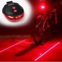Luz Trasera Bicicleta Con Laser 9 Modos De Iluminacion