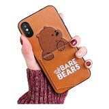 Funda Case iPhone 6 7 8 Plus X Xs Xsmax Xr We Bare Bears Oso