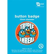 Angry Birds Insignia - Triple Amenaza 25mm Juegos Oficiales