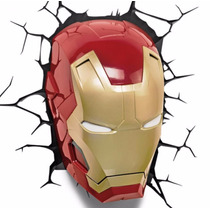 Iron Man Lámpara De Noche 3d Marvel