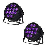 Cañon Led 12x12w Dmx Rgb Led Ultravioleta Luz Negra 2 Pz