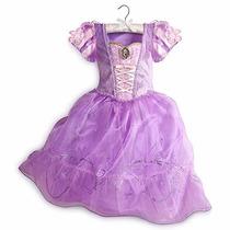 Disfraz Rapunzel Disney Store Hermoso 2015 Tallas 4 Y 5/6