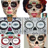 6 Tatuajes Catrina Halloween Muertos Hombre Mujer