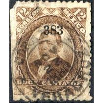 1859 Clásico Juárez Scott#136 12c Usado L H Veracruz#383