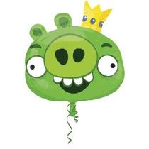 Angry Birds Verde Cerdo Carácter 23 Globo De Mylar