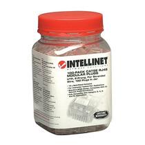 Plug Intellinet 790055 Rj45 Cat 5e 100 Piezas Transparente