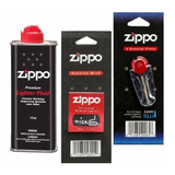Zippo Combustible + 1 Mecha + 6 Piedras Original Encendedor