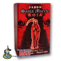 Jabón Santa Muerte Roja - Amor, Pasión Y Protección.