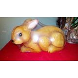 Alcancía De Conejo, Figura De Resina, 23 Cm Largo X13cm Alto