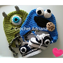 Gorros Tejidos Bb Jirafa Pinguino Come Galletas Crochet Vbf