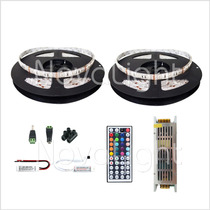 Kit 10mt Tira Led Multicolor Rgb 5050 Ip65 - Todo Incluido !