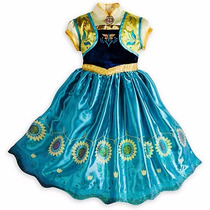 Vestido Frozen De Anna Fever Americano No Disney