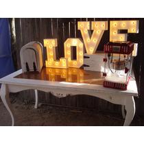 Letras Gigantes Love Vintage Boda Fiestas Eventos