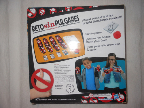 Juego De Mesa Reto Sin Pulgares De Hasbro Original 299 En