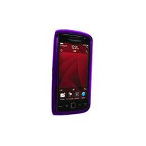 Oem Verizon Blackberry Antorcha 9850 Silicona Caso (púrpura)