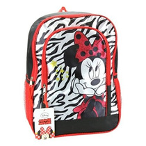 Mochila - Disney - Minnie Mouse - Estampado De Zebra De 16
