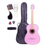 Guitarra Acústica Infantil 3/4, Paquete Con Accesorios