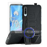 Funda Protector Huawei Y9s Uso Rudo Con Clip + Mica