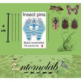 Alfileres Entomológicos Negros #4 Entosphinx Insectos