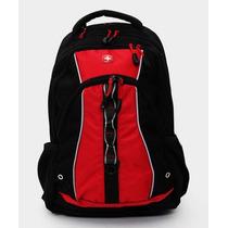 Wenger Back Pack Porta Laptop 16 Linden Negro Y Rojo