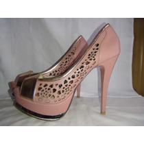 Zapatillas De Piel Color Rosa Marca Abusiva 25.5